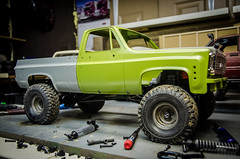 Adjusting the body (Strangely Different) Tags: offroad 4x4 hobby chevy k10 crawler scaler tinytrucks gelande trailfinder rc4wd rceveryday