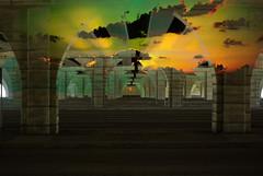 Concrete Sky (camp_bell_) Tags: ocean road street city bridge light sunset sky urban beach nature clouds photoshop keys mexico concrete highway key pin texas katy gulf image florida houston overpass overlay shore freeway interstate i10 largo apply infrastructre