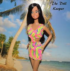 European Faux Hawaiian Barbie Superstar (The doll keeper) Tags: black face vintage hair european barbie hawaiian mold superstar