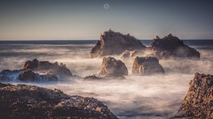 Gulls, Rocks and Waves (Augmented Reality Images (Getty Contributor)) Tags: birds canon coastline gulls landscape leefilters light longexposure morayshire nature portknockie rocks scotland sea seagulls seascape water waves
