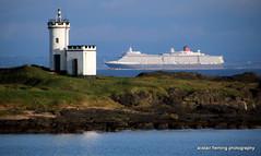 35-IMG_3001 Cunard Queen Elizabeth (marinbiker 1961) Tags: blue sea sky water scotland fife elie queenelizabeth 2016 elielighthouse cunardcruiseship