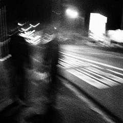 matchstick men~ (andy961688) Tags: streetphotography blackandwhitephotography outofthephone mobilephotography iphoneography night motion blur awesome cool abstract art dark