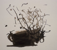 Beast 1 Reclaimed (Karen Hyams) Tags: brown abstract monoprint asphalt slides
