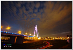 SDIM2798 ( or Jeff) Tags: ocean voyage bridge blue sunset sea sky art nature water colors night clouds buildings real coast twilight place shot dusk taiwan sigma explore  taipei  1020mm discovery   seeking scenes    nightfall afterglow merrill  foveon landscap   x3       glimmering  18200mm sd1