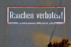 !!! (in-fluenz) Tags: detail abandoned hannover industrie nahaufnahme zeichen botschaft wohlenberg