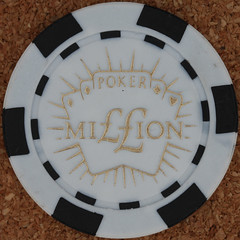 MIION poker chip (Leo Reynolds) Tags: gambling canon eos iso100 casino poker button marker chip squaredcircle 60mm token f80 buck pokerchip 0125sec 40d hpexif xleol30x sqset079
