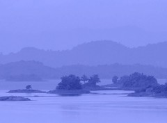 Blue hour,, (Sangkhla Buri) wetlands (Thai pix Wildlife photography,,) Tags: nature misty landscape thailand wetlands sangkhlaburi thaipixwildlifephotography