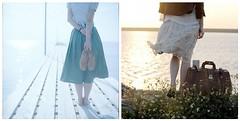 Hello world, hope you're listening (Raincloud) Tags: light sea girl standing back diptych legs
