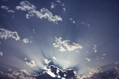 Through the gates of Heaven (redaleka) Tags: blue light sunset sky cloud sun white colors beautiful beauty clouds liberty lights freedom heaven skies cloudy navy dramatic sunny rays sunrays