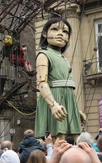 Giant Girl Puppet in Liverpool (janet7r) Tags: liverpool giant blog puppets