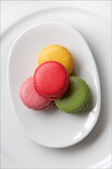 Macaroons (Nada*) Tags: pink red food white france color colour green yellow french dessert baking lemon strawberry tasty plate sugar delicious eat macaroon pistachio pastry taste sugary flavour flavours macaroons sweettooth waitrose macarons