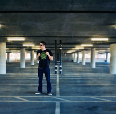 1/52 (The Mad Man With A Box) Tags: texture start portraits self project garage parking fake shift week tilt 52