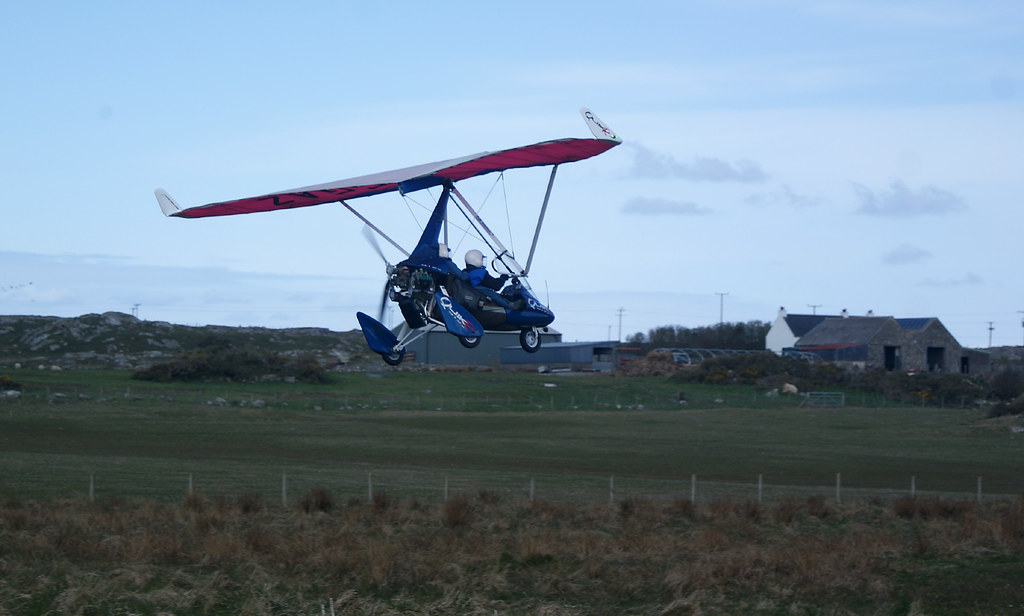 Gordon and Jill about to land at Coll