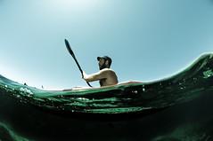 Kayaking (DSD4349) (matfar) Tags: travel sea italy sports water sport portable mediterranean kayak photographer traffic designer matthew paddle malta fisheye adventure inflatable kayaking backpack strength easy paddling gozo comino adventurous farrugia matfar