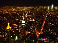 Tiny giants we are (Bjørn Giesenbauer) Tags: nyc newyork night lights skyscrapers manhattan empirestatebuilding faketiltshift
