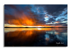 When the sunset makes an image that you never forget..... (May Elin Aunli) Tags: sunset sea norway norge solnedgang grimstad hasla haseltangen