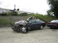 2nd Gen. Toyota Avalon (sixty8panther) Tags: cars car crashed destruction goodriddance front impact toyota smashed wreck destroyed wrecked avalon crappy caraccident totaled toyopet
