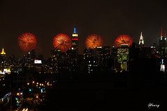 Happy Independence Day! (Houry Photography -on/off) Tags: ny rooftop river view fireworks 4th july macys hudson 2012