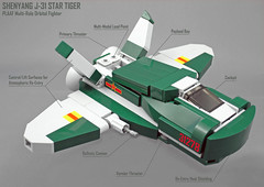 Shenyang J-31 Star Tiger (halfbeak) Tags: lego space sciencefiction shenyang moc j31 starfighters startiger