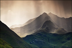 Forcan Ridge & The Saddle (angus clyne) Tags: camera travel blue light summer cloud sun mountain holiday west skye green art grass rain rock canon river print lens landscape drive climb coast scotland highlands ray shine angus walk hill picture scottish peak glen beam ridge reflect photograph nan beams saddle midges clyne munro shiel thesaddle damh forcan greag colorphotoaward