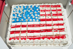 Star-Spangled Birthday Cake 1351 (yospyn) Tags: cake americanflag revolutionarywar 4thofjuly independenceday mountvernon reenactors frosting oathofcitizenship naturalizationceremony newamericans immigrationservices