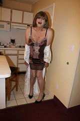 new49541-IMG_1908t (Misscherieamor) Tags: kitchen tv feminine cd motel tgirl transgender mature sissy tranny transvestite slip kimono satin crossdress ts gurl tg travestis travesti travestie m2f xdresser tgurl