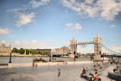 London Bridge (john_peter_mcgrath) Tags: old bridge blue red england sky blur london water thames architecture modern angel clouds buildings river grey lights jump nikon bright cloudy tube historic mad sounds edits d3100