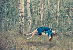 Forest Levitation (ANDY GALLEN) Tags: trees portrait art fall forest outdoors woods flight levitation falling