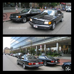 W126 Twins (1991 MB560SEC) (sixty8panther) Tags: door two hardtop sports car bronze sisters wow deutschland grey mercedes benz 22 twins inch shot market euro foil metallic rear wheels stock gray some double tires vision german lucky mercedesbenz 17 parked 1991 gt custom clone rim trim sec rims sidebyside coupe spec blackbeauty v8 1990 sportscar spoiler subtle mild aftermarket 560 luxurycoupe 2door rwd twodoor w126 2dr decklid whatarethechances voxx 560sec w126045 bigbodybenz mercedeshardtop rwdcars