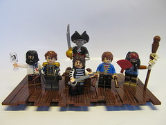 Pirates - the Crew of the Corazn de Oro (Hammerstein NWC) Tags: fan lego witch staff doctor captain dagger hook legend gunner voodoo cutlass blackbeard helmsman priates flintlocks