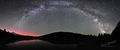 Universal Archway (Gary Randall) Tags: sky reflection night oregon stars space mthood universe mounthood milkyway trilliumlake dsc5126panorama