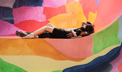 lying on art (Bourguiboeuf) Tags: portrait people woman man paris france color men art girl face museum modern 35mm canon french bed couple colorful down muse lie portraiture 5d lit dslr lying coloured couleur gens tete visage mkii contemporain bofwinner bestofr bourguiboeuf