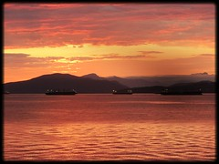 Evening (Mark Faviell Photos) Tags: sunset vancouver bc kits englishbay freighters