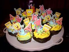 Spongebob Cupcakes by Cathy P www.birthdaycakes4free.com