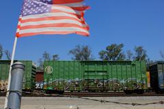 High&Proud (KNOWLEDGE IS KING_) Tags: railroad art yard train bench graffiti paint tracks railway socal bomb railfan freight