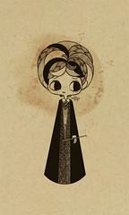 ron (Anita Mejia) Tags: sepia illustration pen ink movie hp traditionalart harrypotter books fanart tribute snape hermione jkrowling ronweasley chocolatita anitamejia