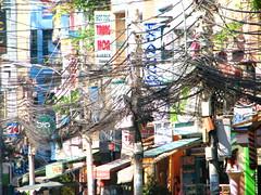 tangled mess II (astroboy_71) Tags: travel color colour colors colorful asia southeastasia colours view vietnam cables electricity saigon hochiminhcity tangled southeastasiaimages messchaos
