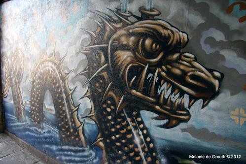 Sea Monster - Graffiti by Feek & Paris