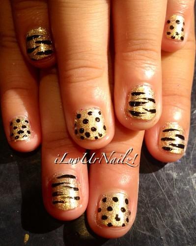 Lil Gold N Black Dots & Tiger Stripes