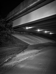 Near Alewife (Dan Squires) Tags: longexposure cambridge night ma alewife bronicarf645 fujiacros100 npy fomadonr09