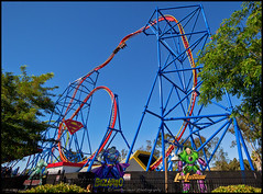 Superman Ultimate Flight (Coasterluver) Tags: new rollercoaster sixflags inversion coaster vallejo supermanultimateflight sixflagsdiscoverykingdom coasterluver