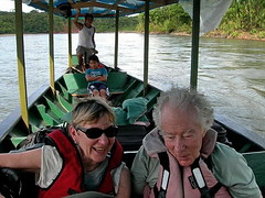 Shirley and Richard with Crew--by Jim Vargo (Hesperia2007) Tags: peru southamerica river hotel boat rainforest scenery view lodging culture richard shirley southeast habitat boatman madrededios amazonialodge neotropics