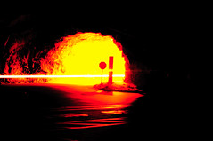 The Gates of Hell (sysiphusd) Tags: blue light red lights hell experiment yosemite bluelight gatesofhell lightexperiment