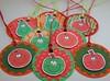 Little Fruits Gift Tags (Crafty Mushroom) Tags: red food orange green apple fruit round pear gifttags doodled craftymushroom