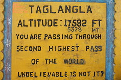 Unbelievable indeed, being, as it is, untrue (Pikes On Bikes) Tags: india sign cycling pass bro himalaya himalayas ladakh cycletouring taglangla borderroadsorganisation pikesonbikes