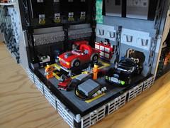 Underground base - garage (AL-corp) Tags: castle lego base