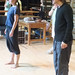 At Cone Gatherers rehearsals Helen Mackay and John Kielty