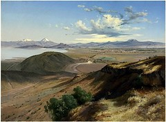 Velasco, Jose Maria (1840-1912) - 1892 Valley of Mexico from the Hill of St. Isabel (Christie's New York, 2008) (RasMarley) Tags: landscape 19thcentury mexican painter realism velasco christies 1890s 1892 josemariavelasco valleyofmexicofromthehillofstisabel