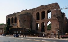 Basilica of Maxentius and Constantine, exterior view from street