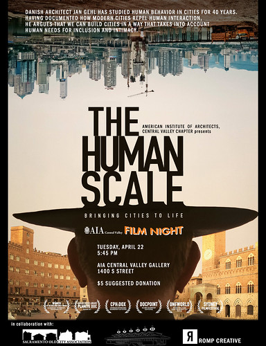 "Free Documentary: ""The Human Scale"" - at AIA Central Valley on April 22, 2014"